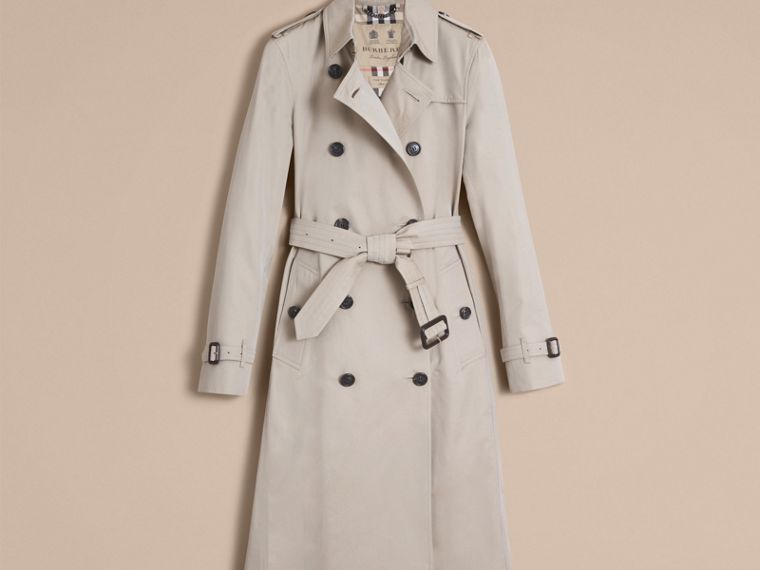 Stone The Kensington – Extra-long Heritage Trench Coat Stone - cell image 4
