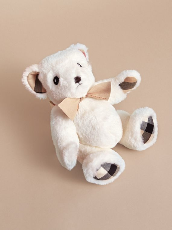 Thomas Baby Bear with Check Detail in White | Burberry Singapore - cell image 2