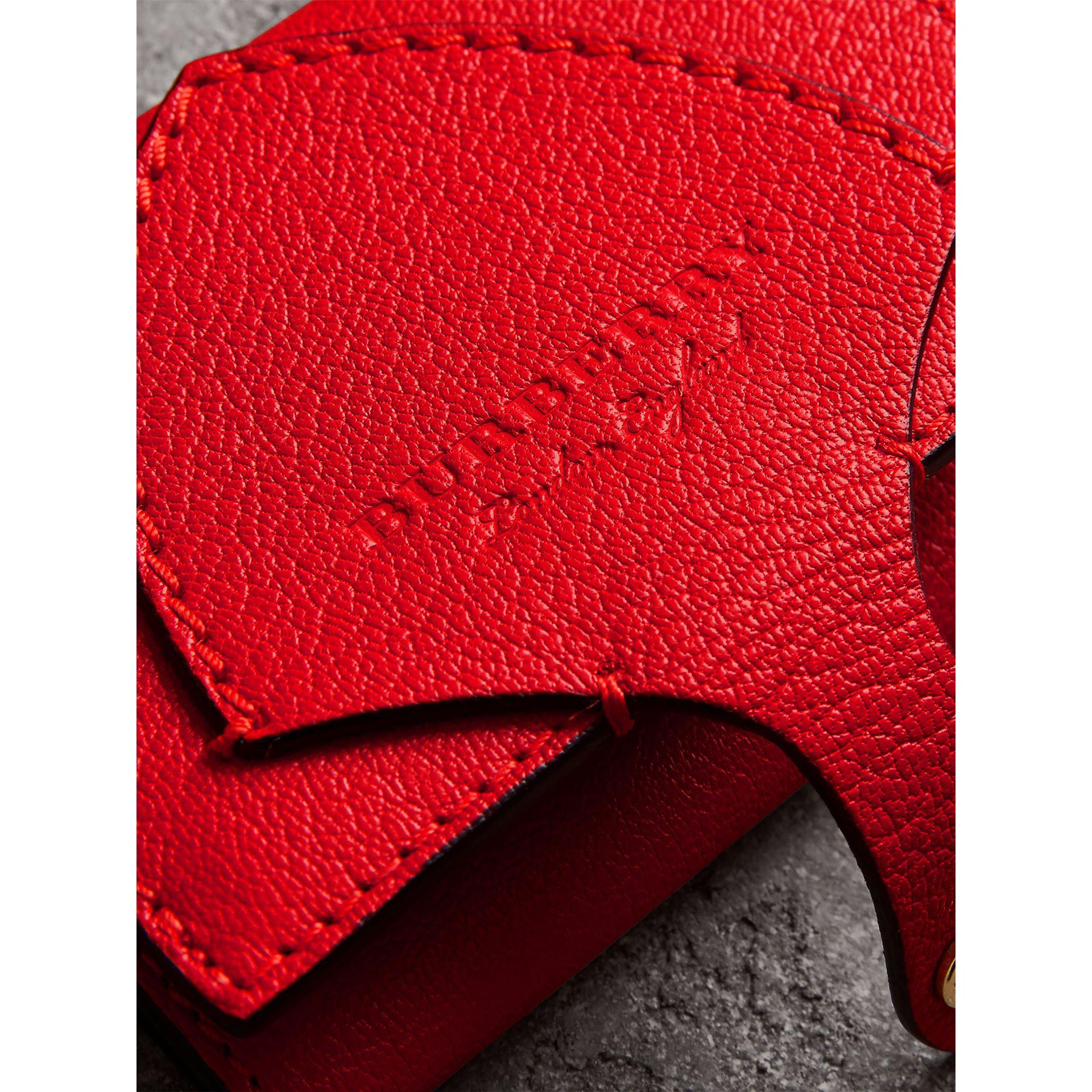 Equestrian Shield Two-tone Leather Folding Wallet in Bright Red - Women | Burberry United Kingdom - gallery image 1