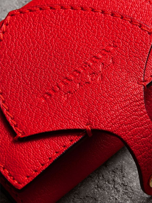 Equestrian Shield Two-tone Leather Folding Wallet in Bright Red - Women | Burberry - cell image 1