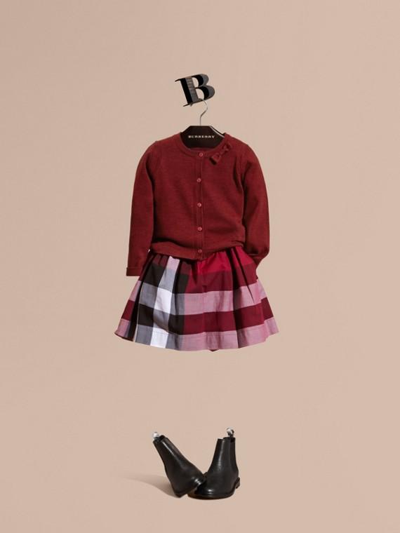 Cardigan léger en laine mérinos Rose Prune Sombre