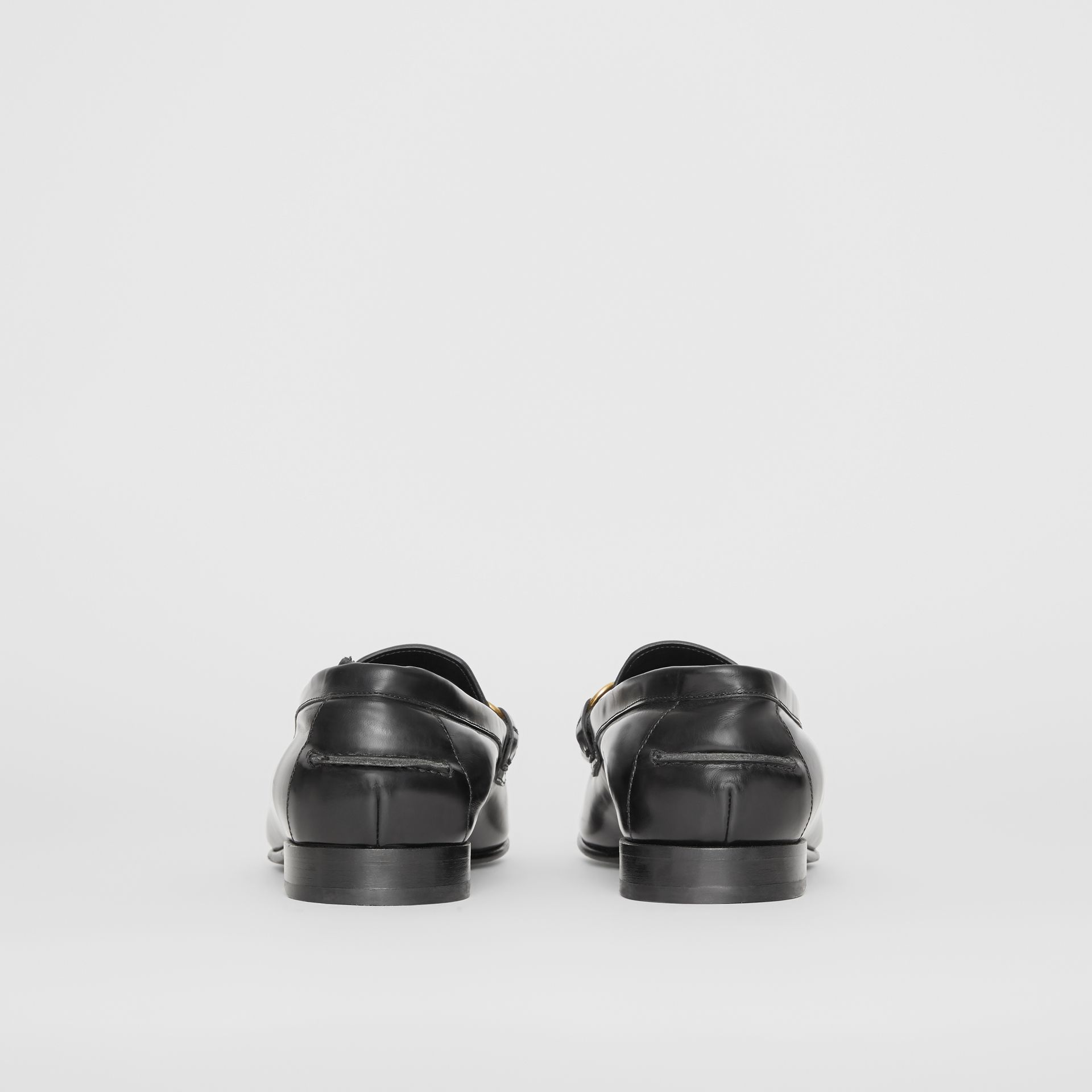 The Leather Link Loafer in Black - Men | Burberry United States - gallery image 4