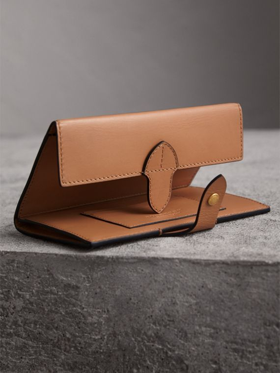 Equestrian Shield Leather Continental Wallet in Camel - Women | Burberry - cell image 3