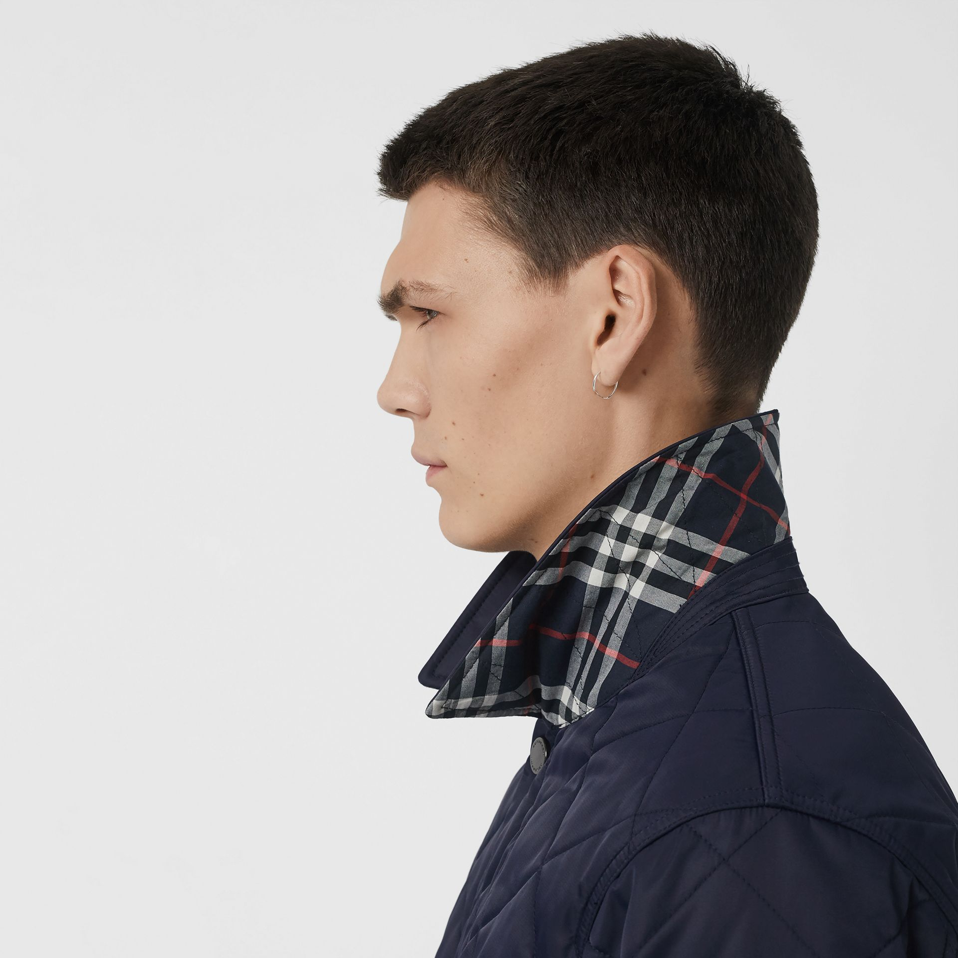 Diamond Quilted Jacket in Navy - Men | Burberry Australia - gallery image 4