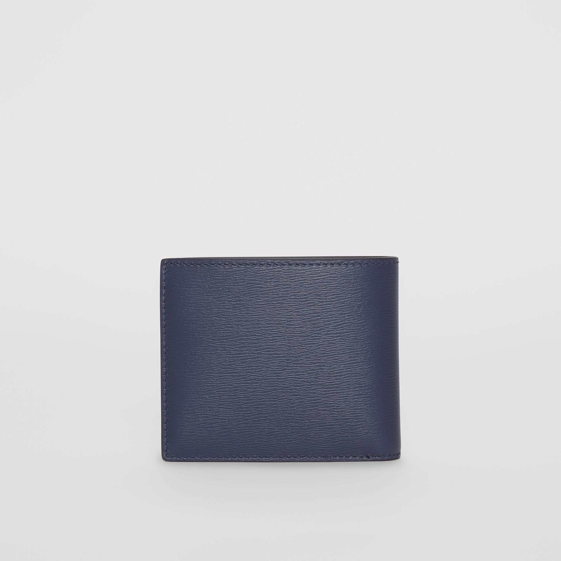 London Leather Bifold Wallet with ID Card Case in Navy - Men | Burberry Singapore - gallery image 4