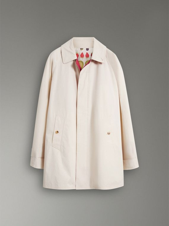 Reissued Waxed Cotton Gabardine Car Coat in Pale Stone - Women | Burberry - cell image 3