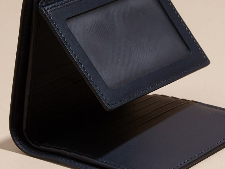 Dark navy London Leather ID Wallet Dark Navy - cell image 4