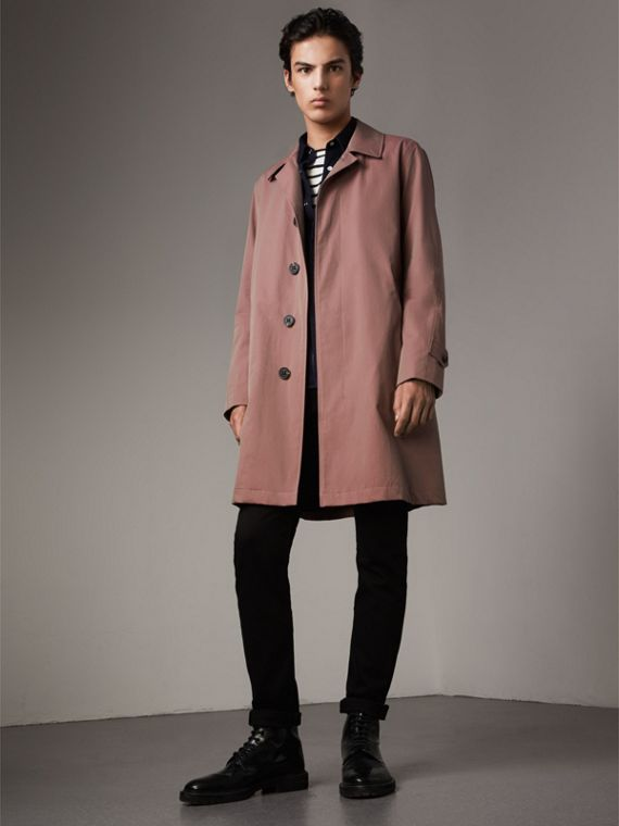 Tropical Gabardine Car Coat in Antique Rose - Men | Burberry Singapore