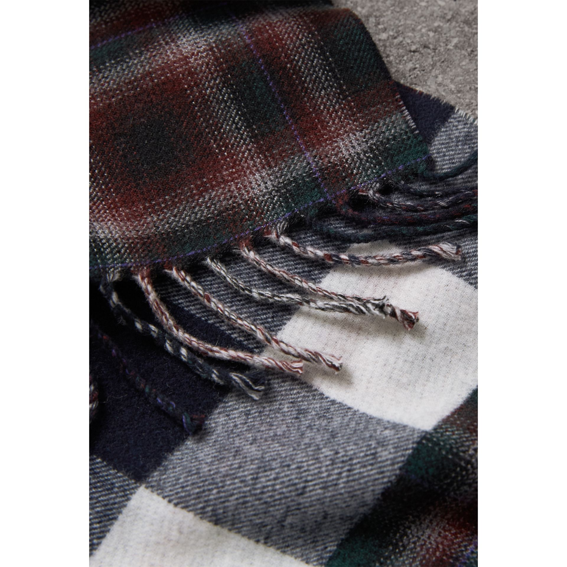 Check Merino Wool Scarf in Navy | Burberry Singapore - gallery image 2