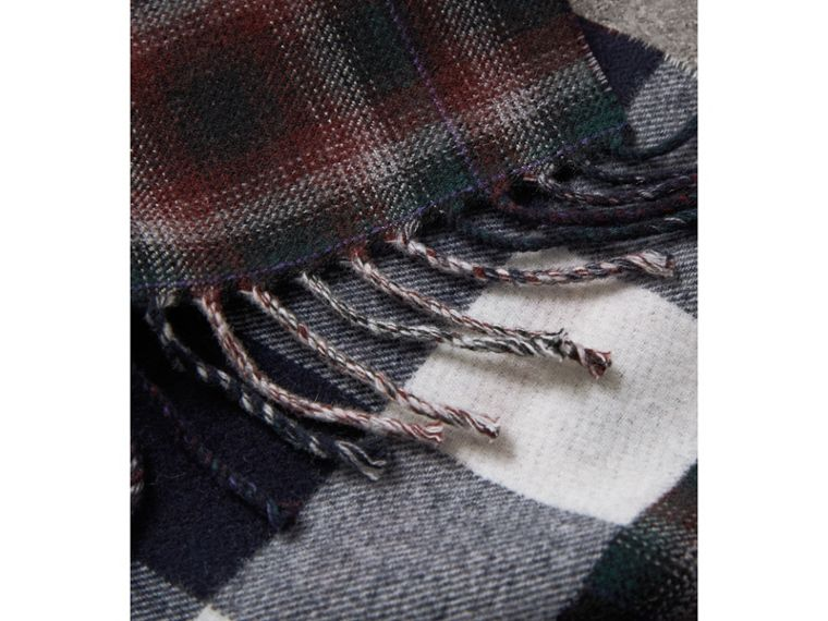 Check Merino Wool Scarf in Navy | Burberry Canada - cell image 1
