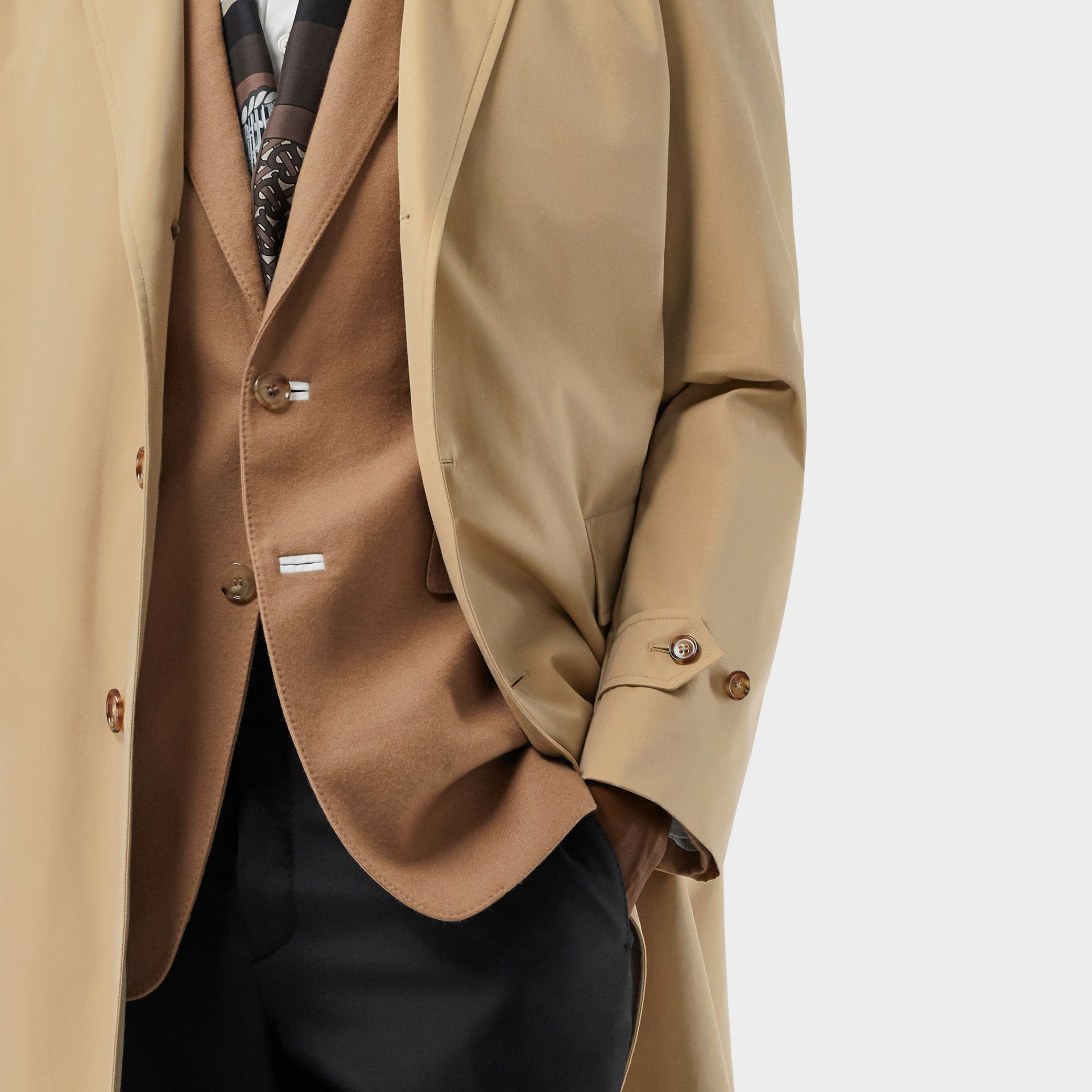 Cotton Gabardine Lab Coat in Honey - Men | Burberry - gallery image 7