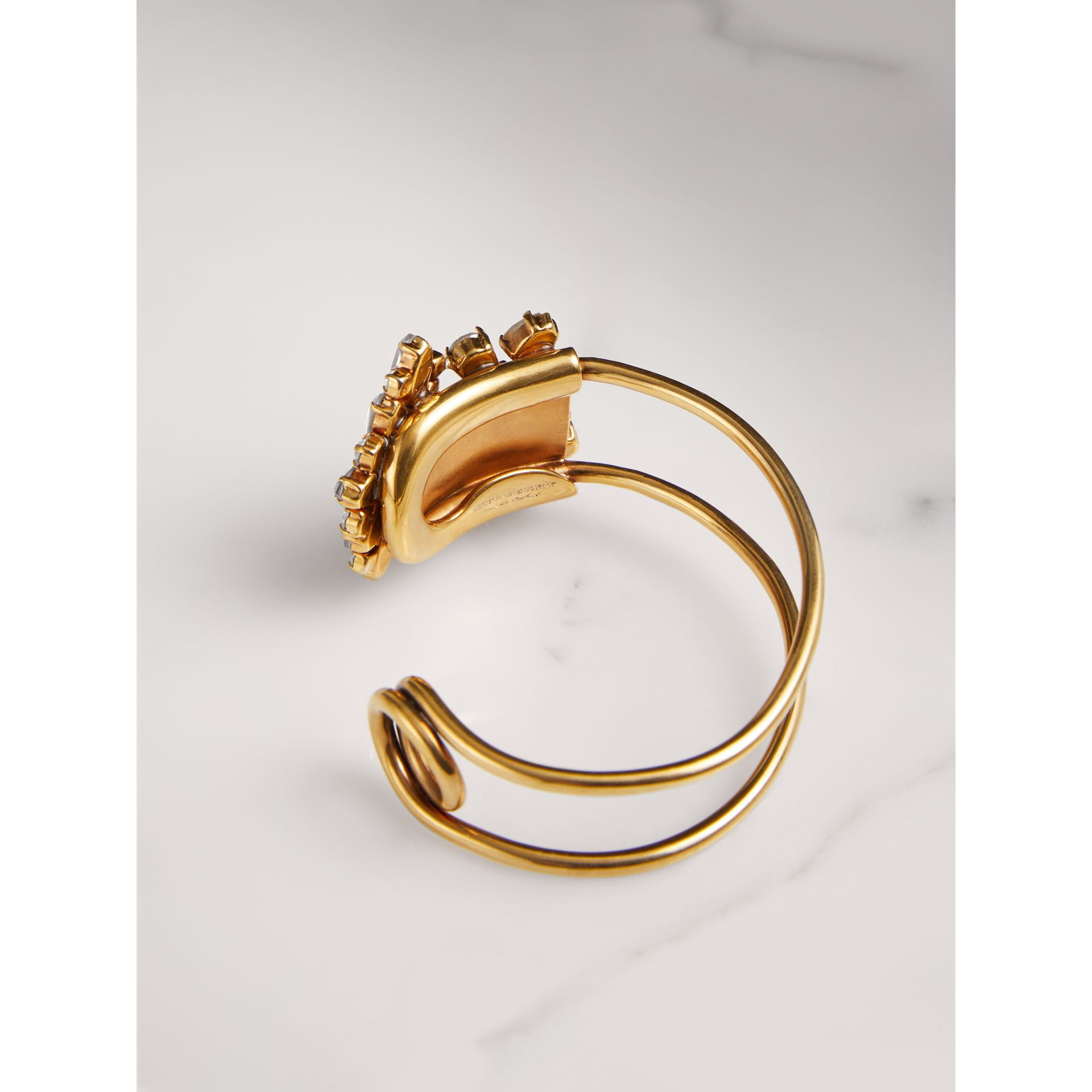 Crystal Daisy Gold-plated Cuff - Women | Burberry - gallery image 2