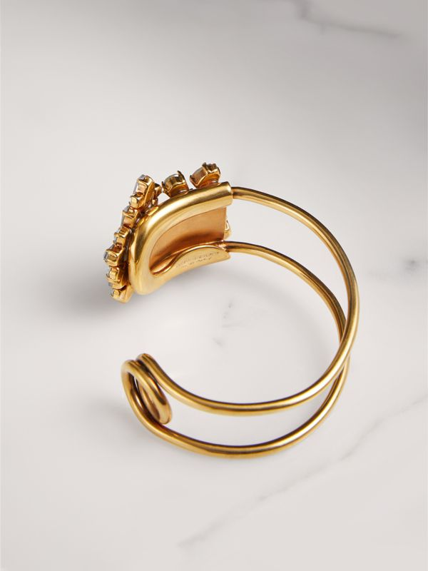 Crystal Daisy Gold-plated Cuff - Women | Burberry - cell image 2