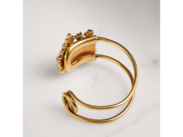 Crystal Daisy Brass Cuff - Women | Burberry United Kingdom - cell image 2
