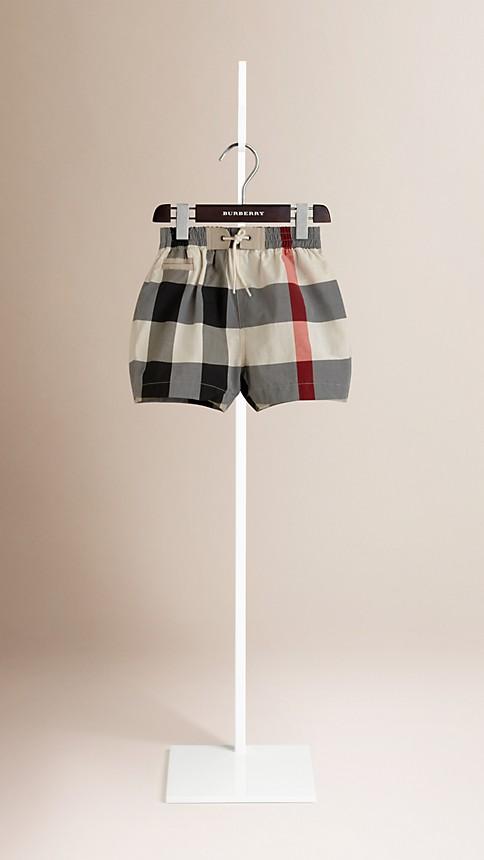 New classic check Check Swim Shorts - Image 1