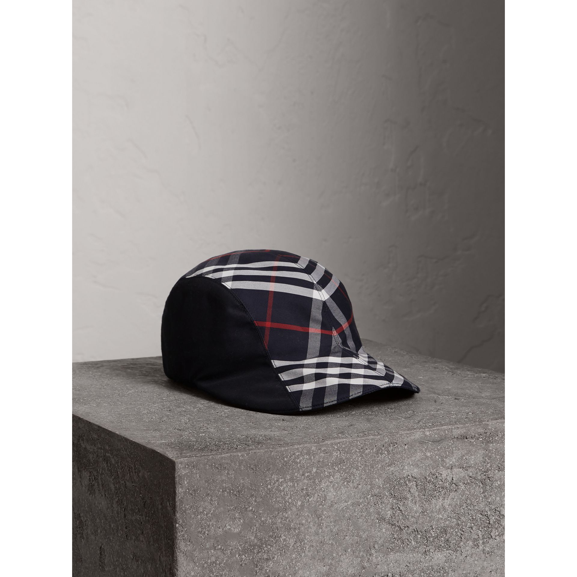 Gosha x Burberry Duckbill Cap in Navy | Burberry - gallery image 1