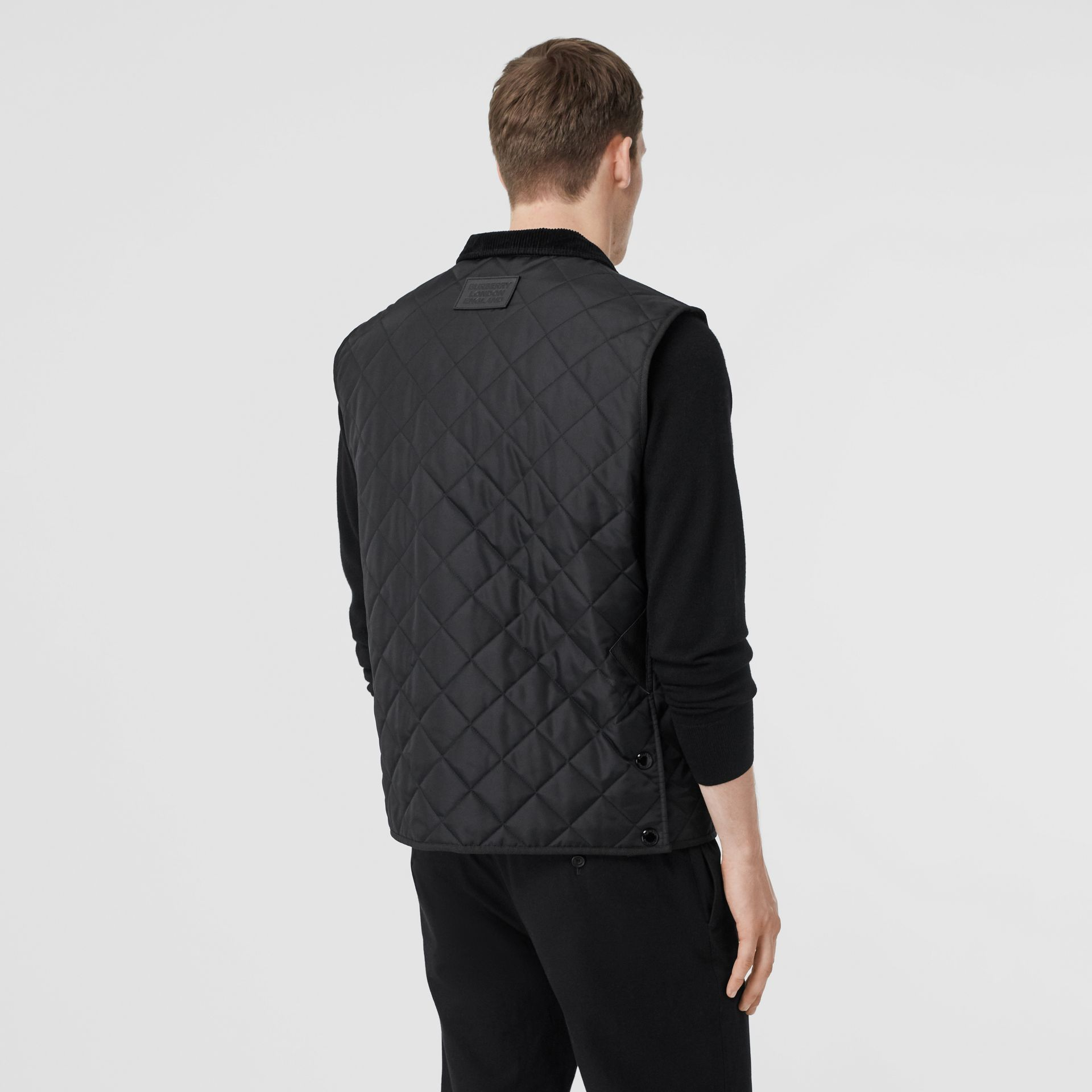 Diamond Quilted Thermoregulated Gilet in Black - Men | Burberry - gallery image 2