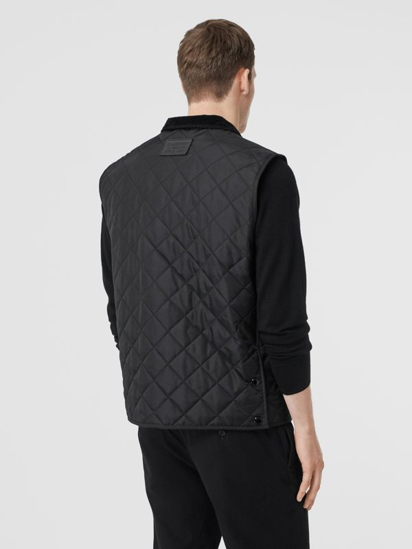 Diamond Quilted Thermoregulated Gilet in Black - Men | Burberry United Kingdom - cell image 2