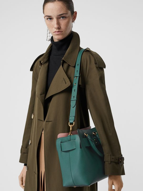 The Small Leather Belt Bag in Dark Cyan - Women | Burberry United Kingdom - cell image 3
