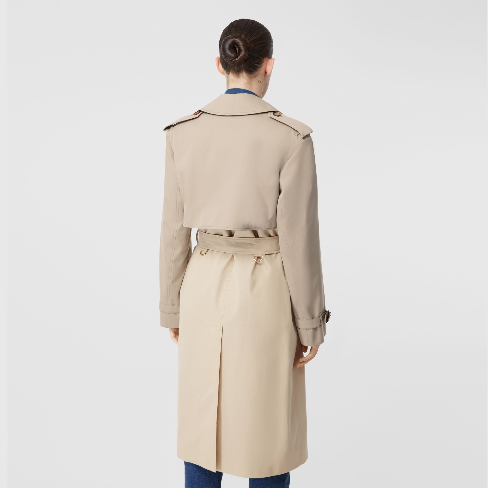 Two-tone Reconstructed Trench Coat in Light Sand - Women | Burberry Hong Kong S.A.R - gallery image 2