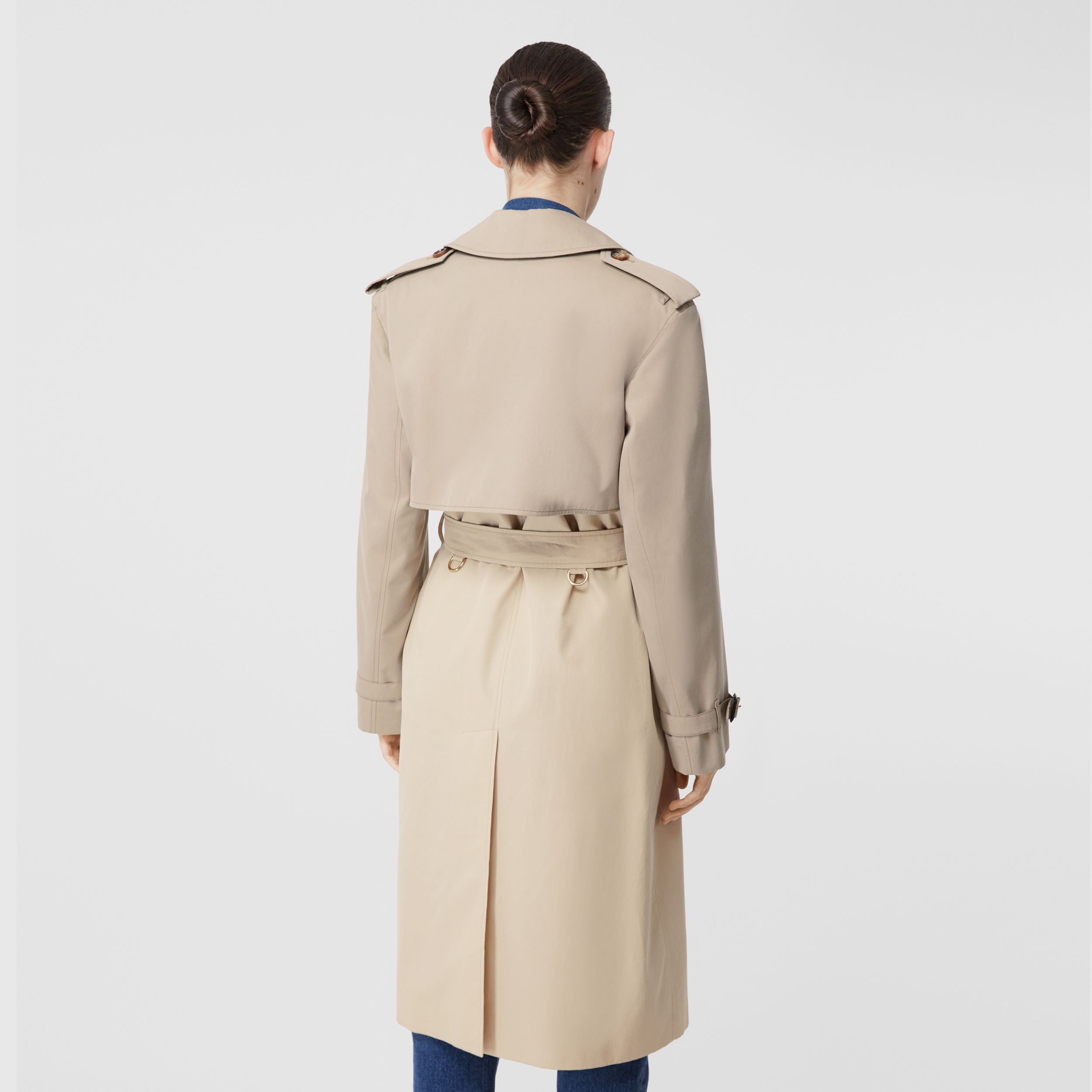 Two-tone Reconstructed Trench Coat in Light Sand - Women | Burberry - 3