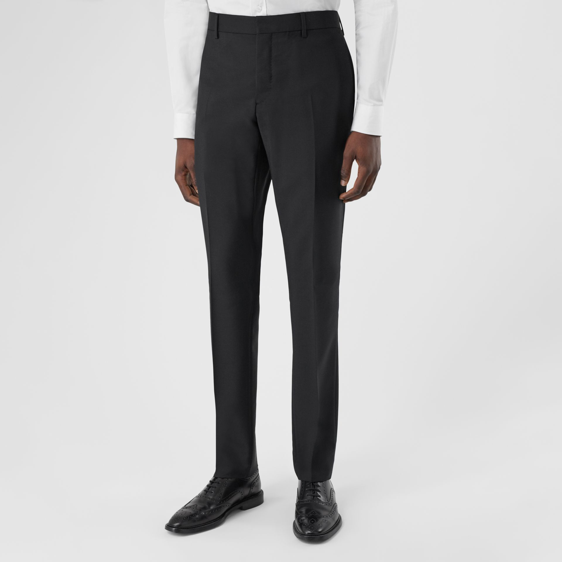Slim Fit Wool Mohair Suit in Black - Men | Burberry Hong Kong S.A.R - gallery image 5