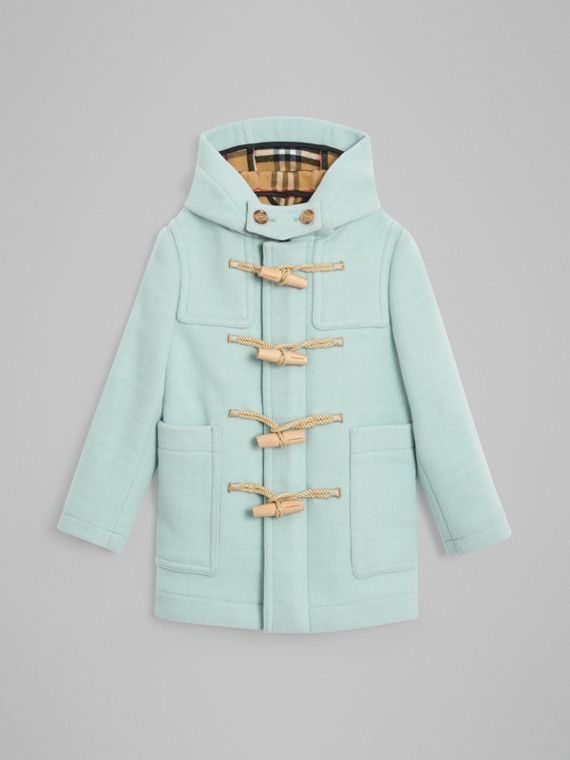 Double-faced Wool Duffle Coat in Pale Mint