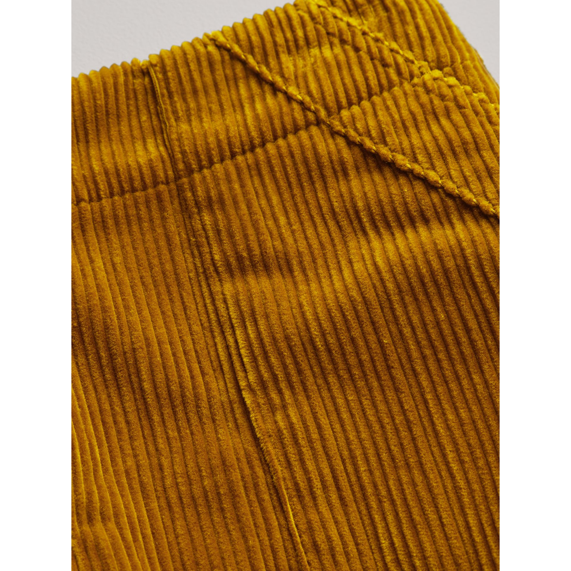 Corduroy A-line Skirt in Ochre - Girl | Burberry - gallery image 1