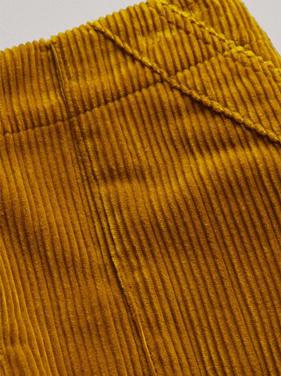 Corduroy A-line Skirt in Ochre - Girl | Burberry - cell image 1