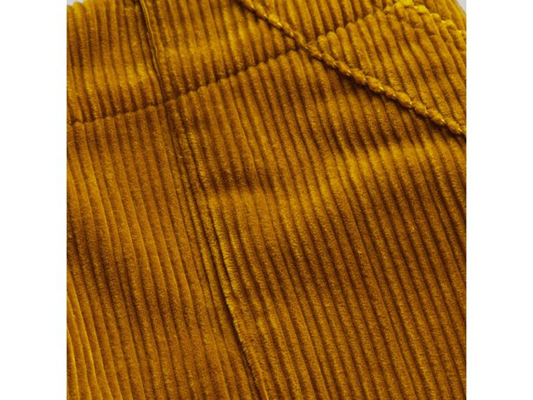Corduroy A-line Skirt in Ochre - Girl | Burberry Singapore - cell image 1