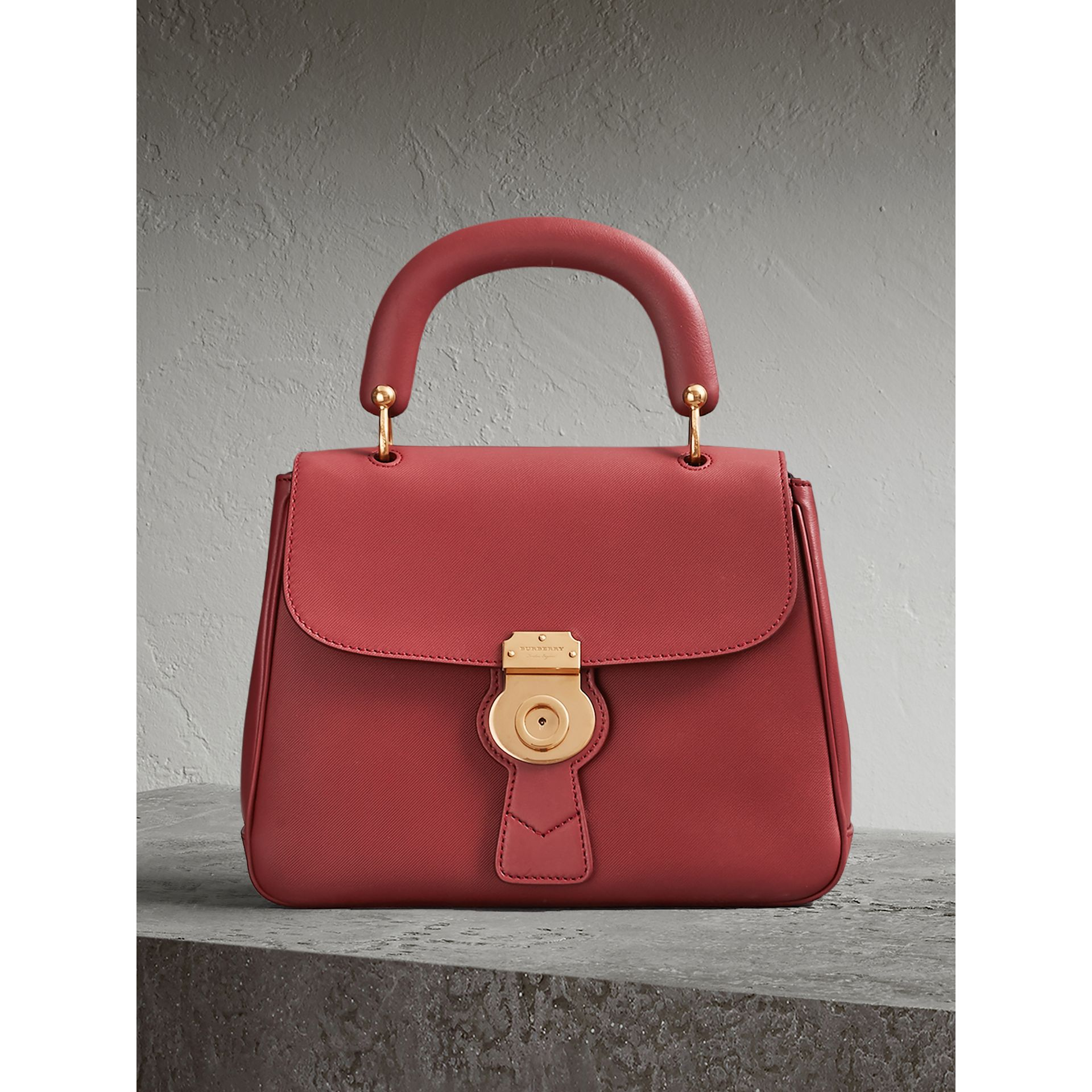 The Medium DK88 Top Handle Bag in Antique Red - Women | Burberry Singapore - gallery image 0
