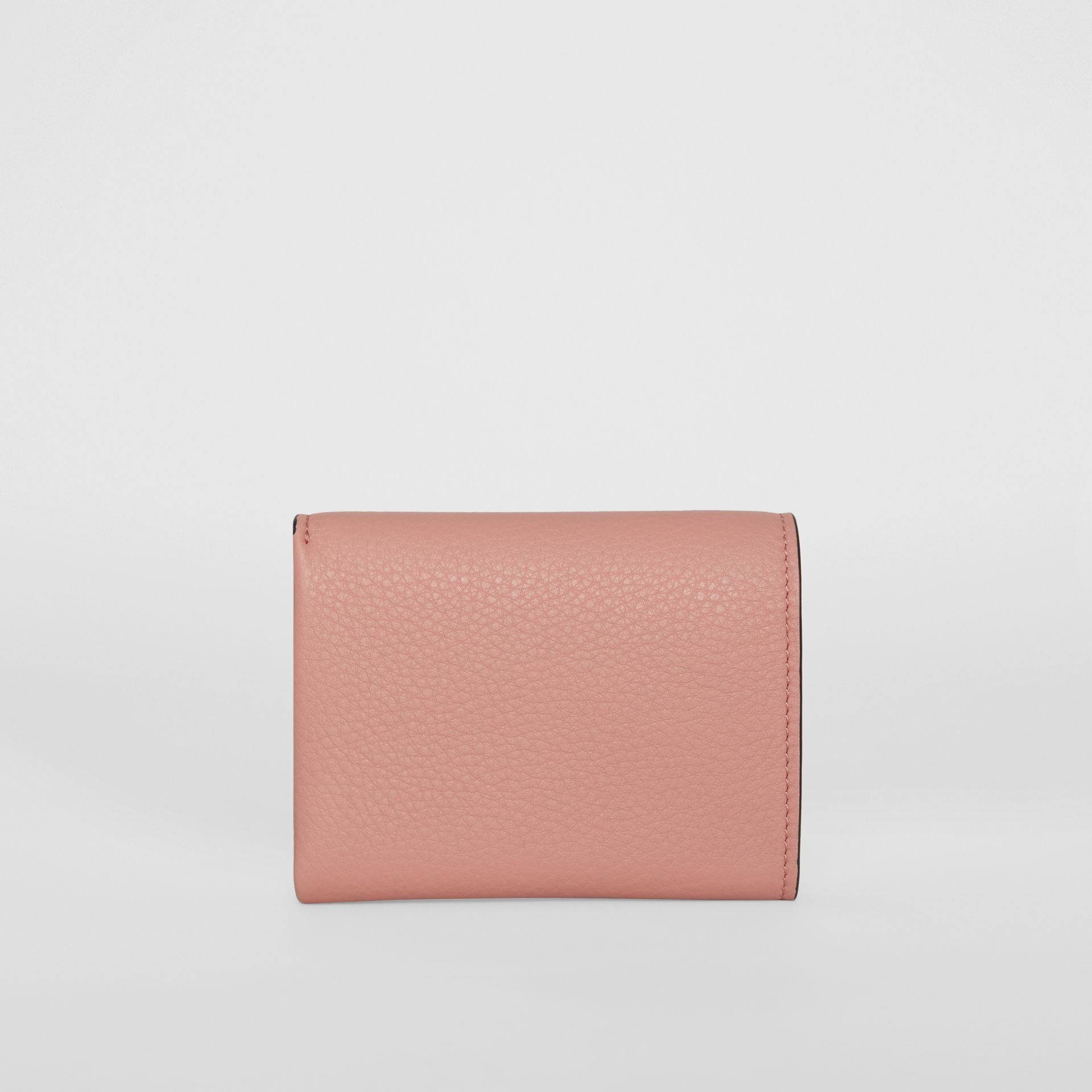 Small Leather Folding Wallet in Ash Rose - Women | Burberry - gallery image 4