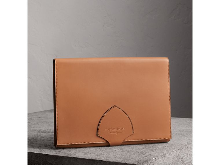 Equestrian Shield Two-tone Leather A4 Document Case in Camel | Burberry - cell image 4