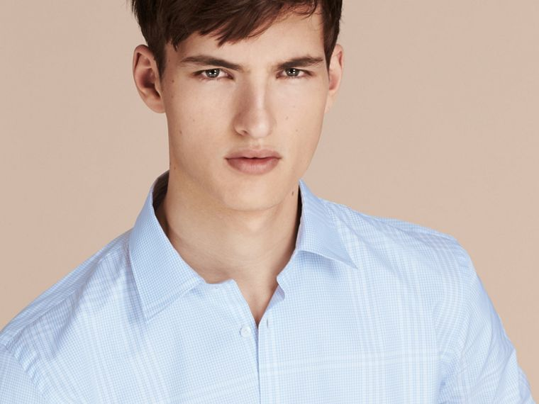 City blue Check Cotton Shirt City Blue - cell image 4