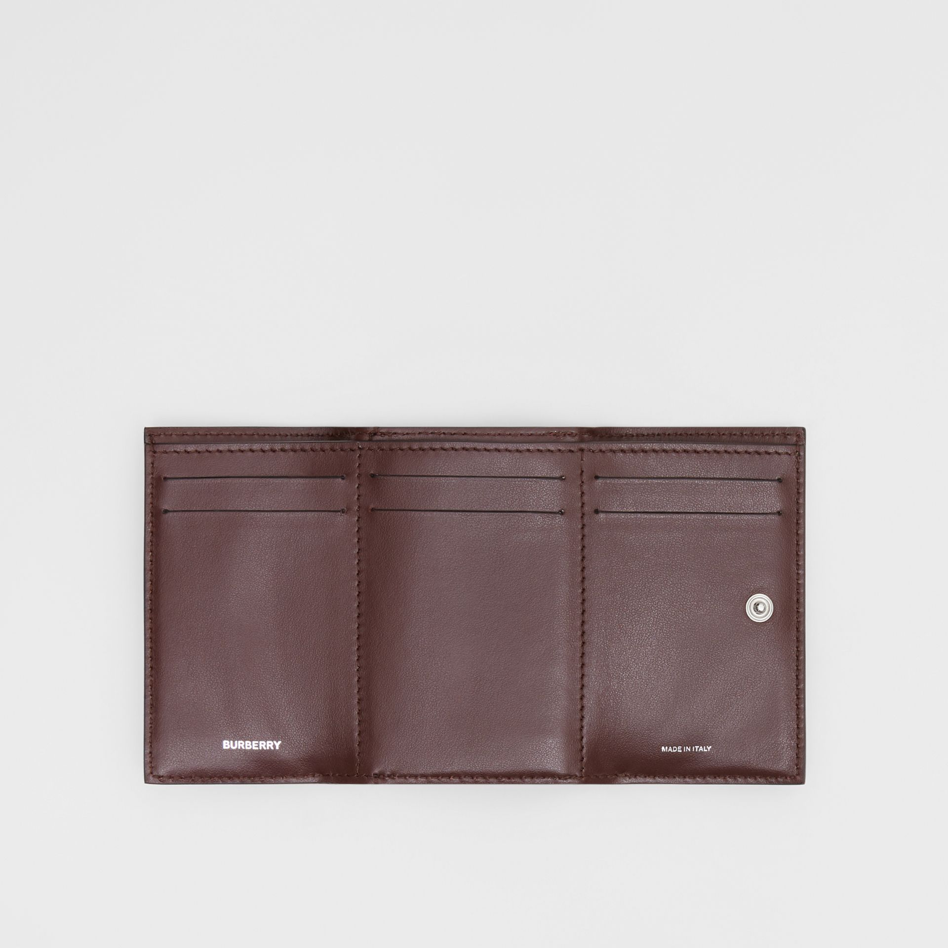 Small Cow Print Leather Folding Wallet in Malt Brown - Women | Burberry - gallery image 5