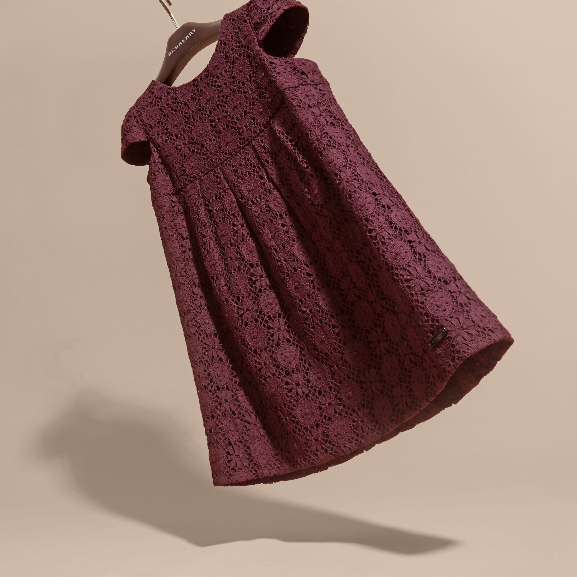 Beetroot English Lace Dress Beetroot - gallery image 3