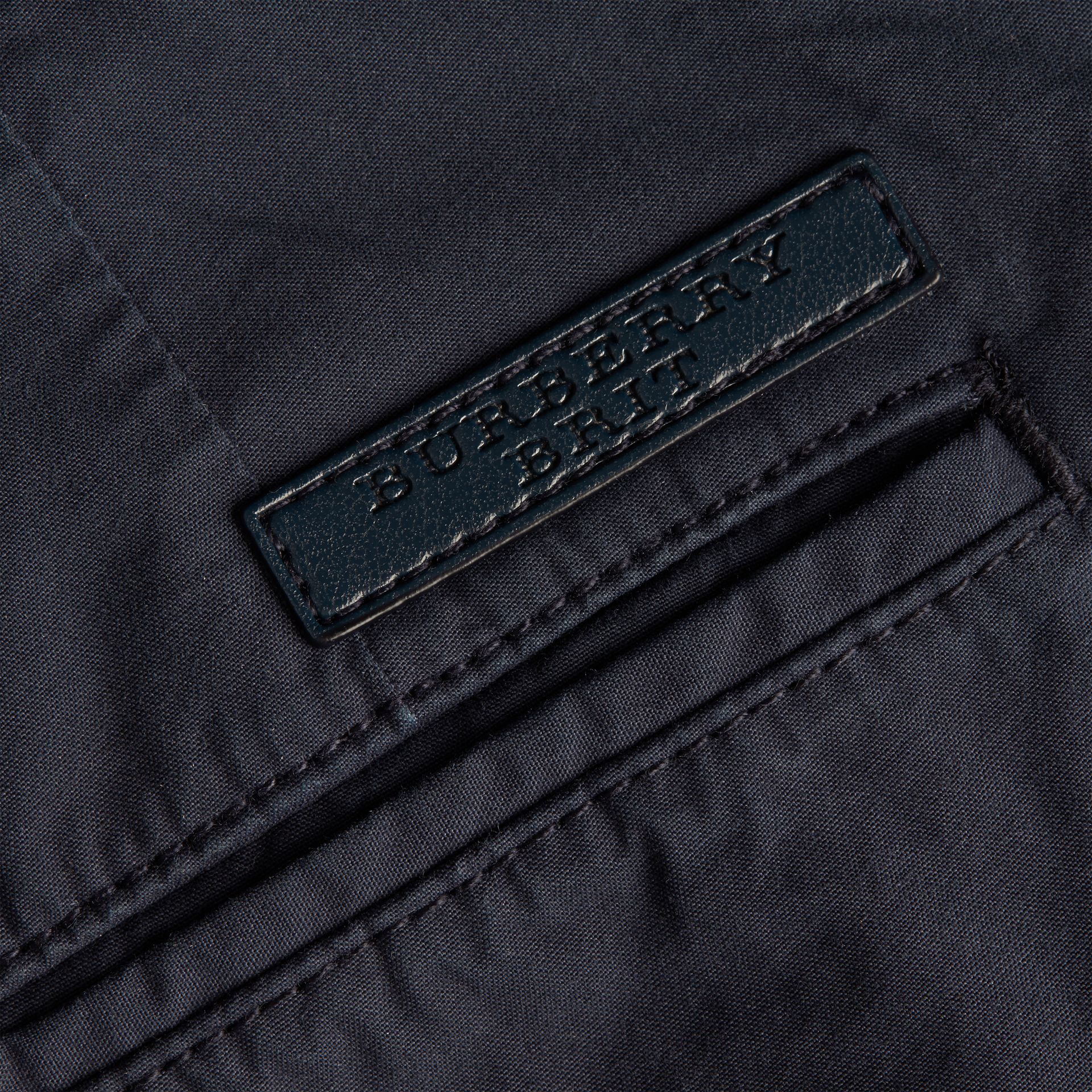 Cotton Poplin Chino Shorts in Indigo - gallery image 2