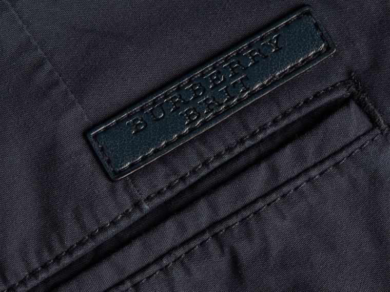 Cotton Poplin Chino Shorts in Indigo - cell image 1