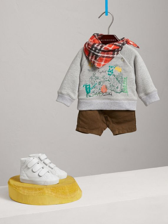 Adventure Motif Cotton Jersey Sweatshirt in Grey Melange | Burberry - cell image 2