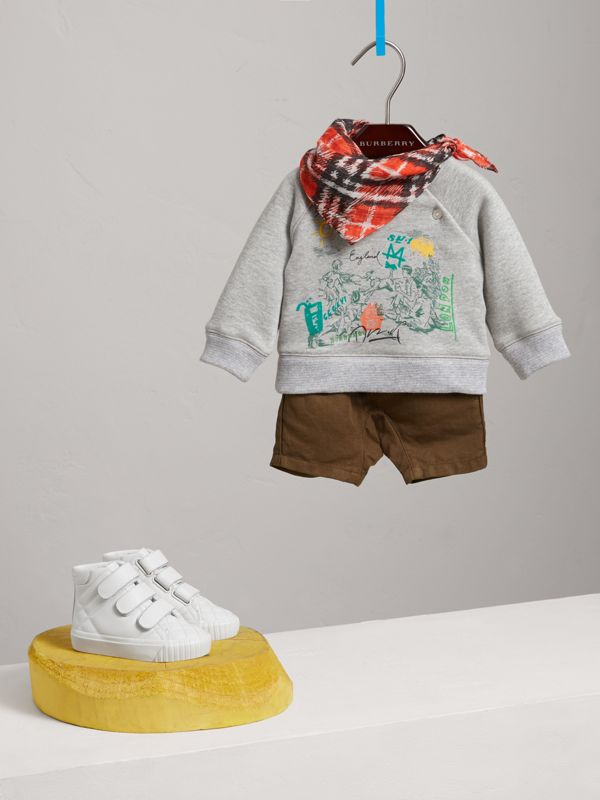 Adventure Motif Cotton Jersey Sweatshirt in Grey Melange - Children | Burberry - cell image 2