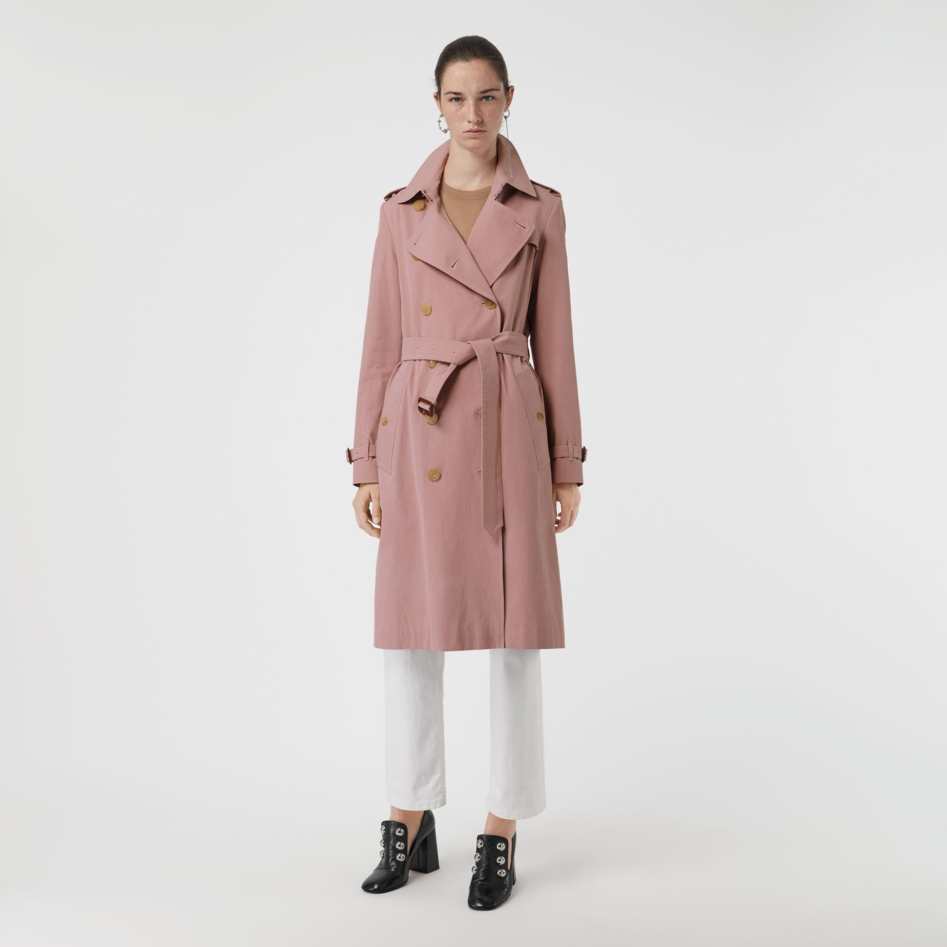 Tropical Gabardine Trench Coat in Chalk Pink - Women | Burberry - gallery image 6