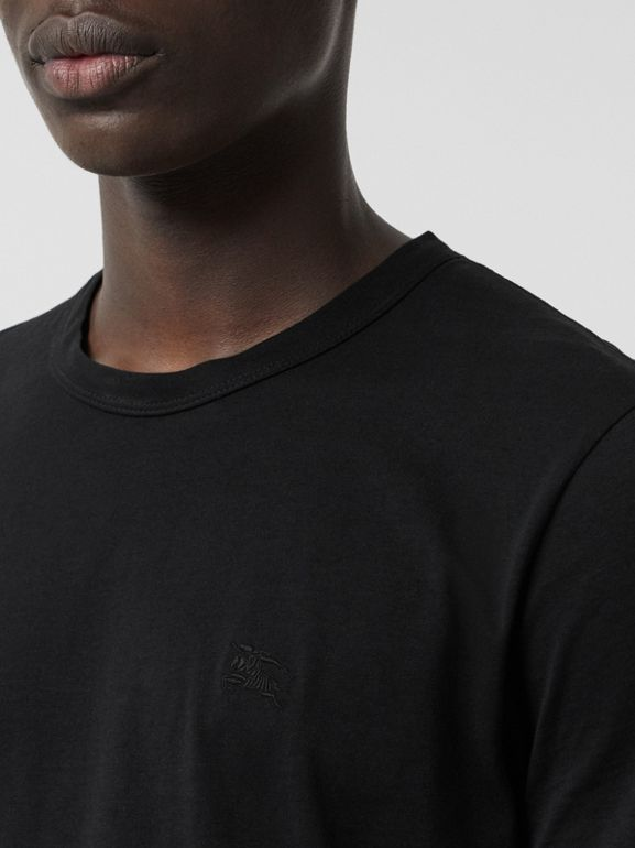 Cotton Jersey T-shirt in Black - Men | Burberry United States - cell image 1