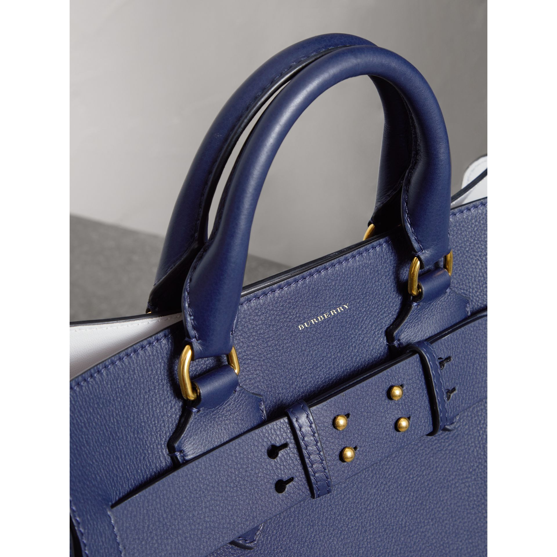 The Medium Leather Belt Bag in Regency Blue - Women | Burberry Canada - gallery image 1