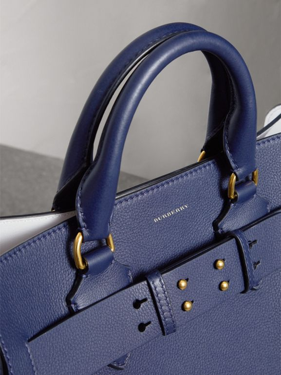 Borsa The Belt media in pelle (Blu Reggenza) - Donna | Burberry - cell image 1