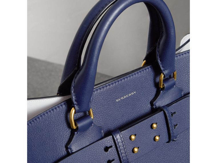 The Medium Leather Belt Bag in Regency Blue - Women | Burberry Canada - cell image 1