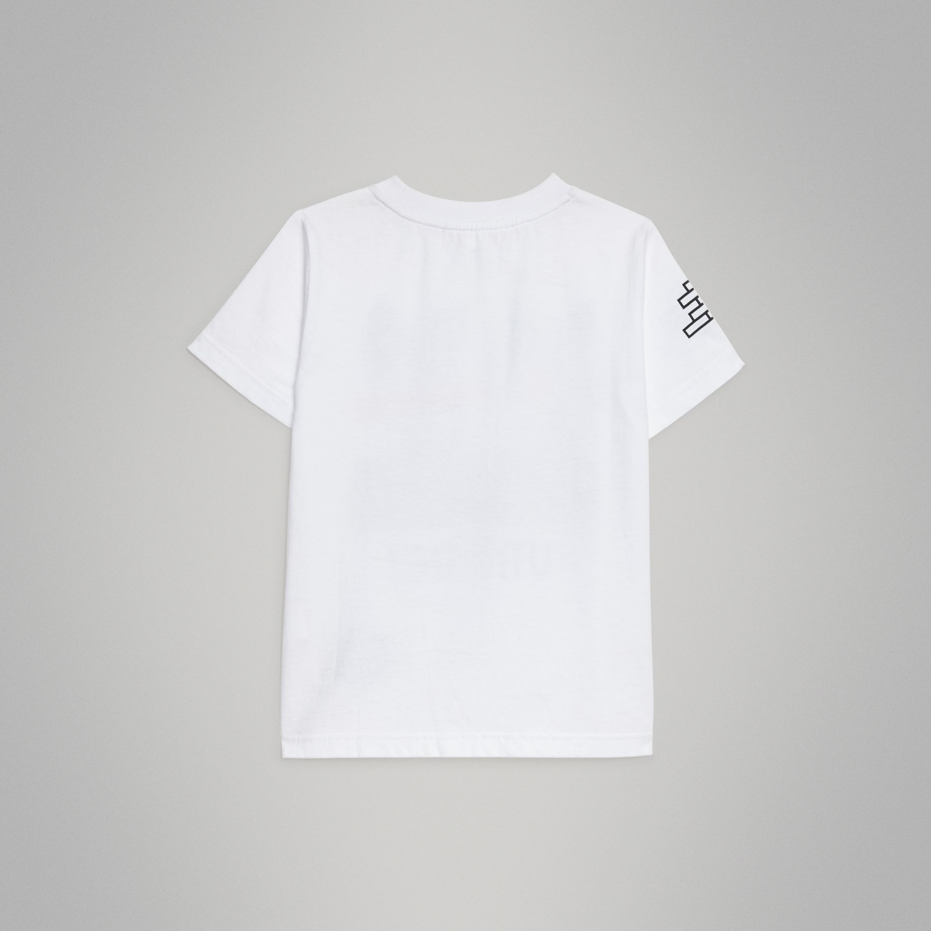 Fox Print Cotton T-shirt in White | Burberry United Kingdom - gallery image 3