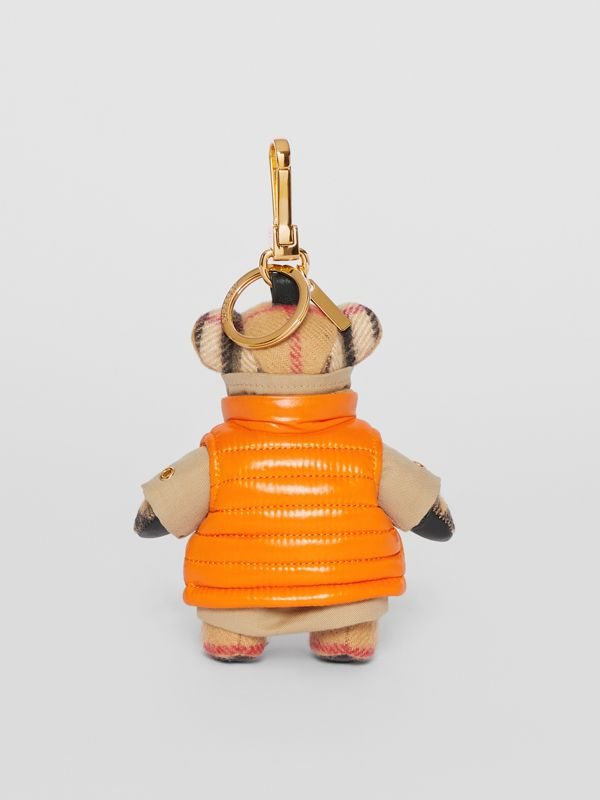 Thomas Bear Charm in Monogram Motif Gilet in Antique Yellow - Women | Burberry Australia - cell image 3