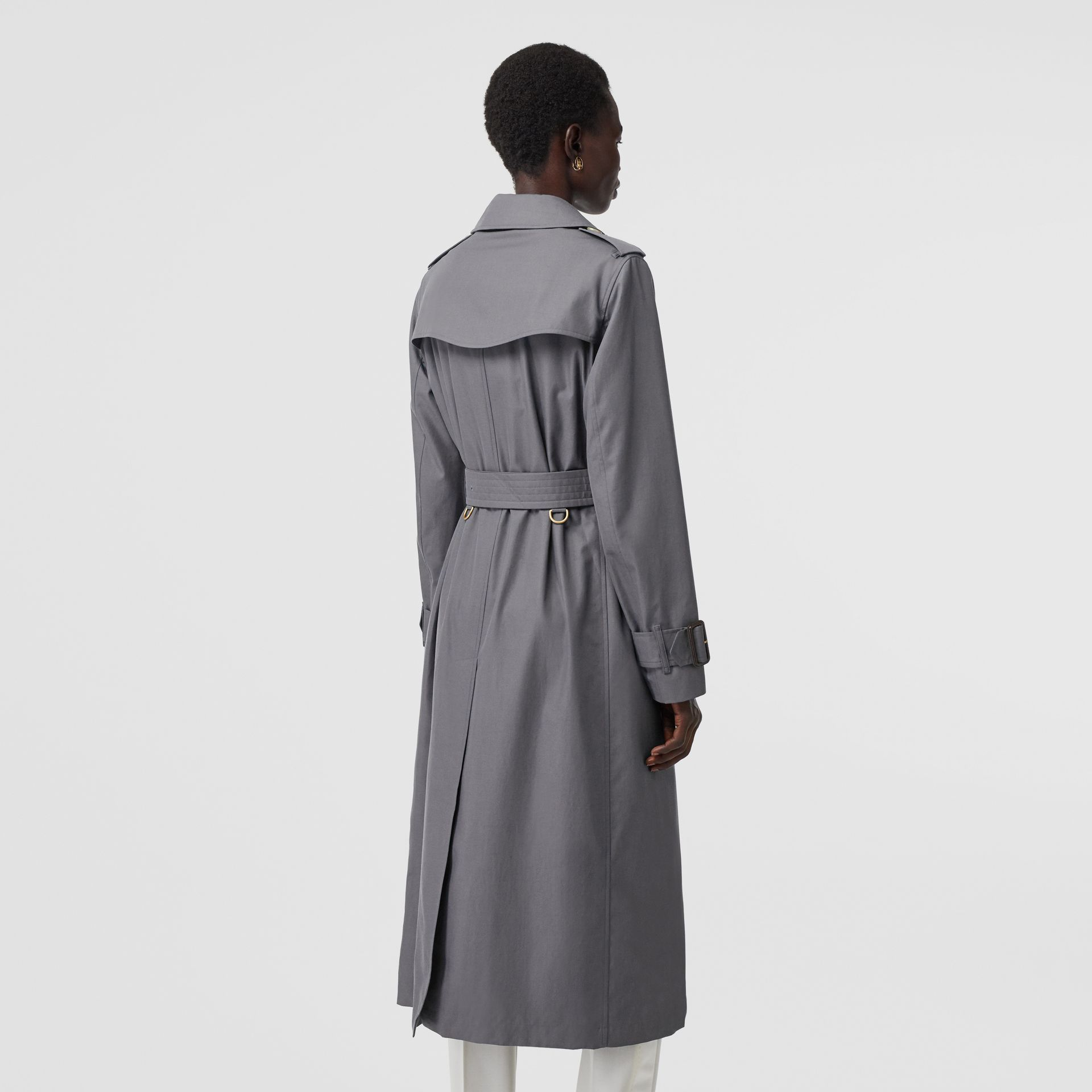 Tropical Gabardine Trench Coat in Mid Grey - Women | Burberry Singapore - gallery image 2
