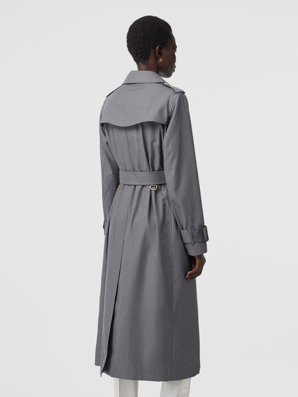 Tropical Gabardine Trench Coat in Mid Grey - Women | Burberry United Kingdom - cell image 2
