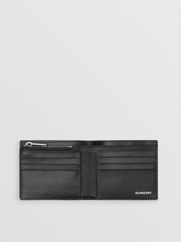 Grainy Leather International Bifold Wallet in Black | Burberry - cell image 2